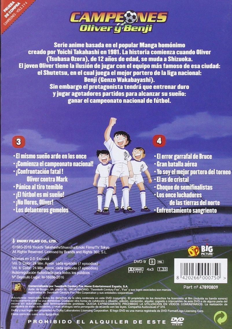 Campeones Temporada 1 - 1ª Parte Vol 3-4 [DVD]: Amazon.es ...