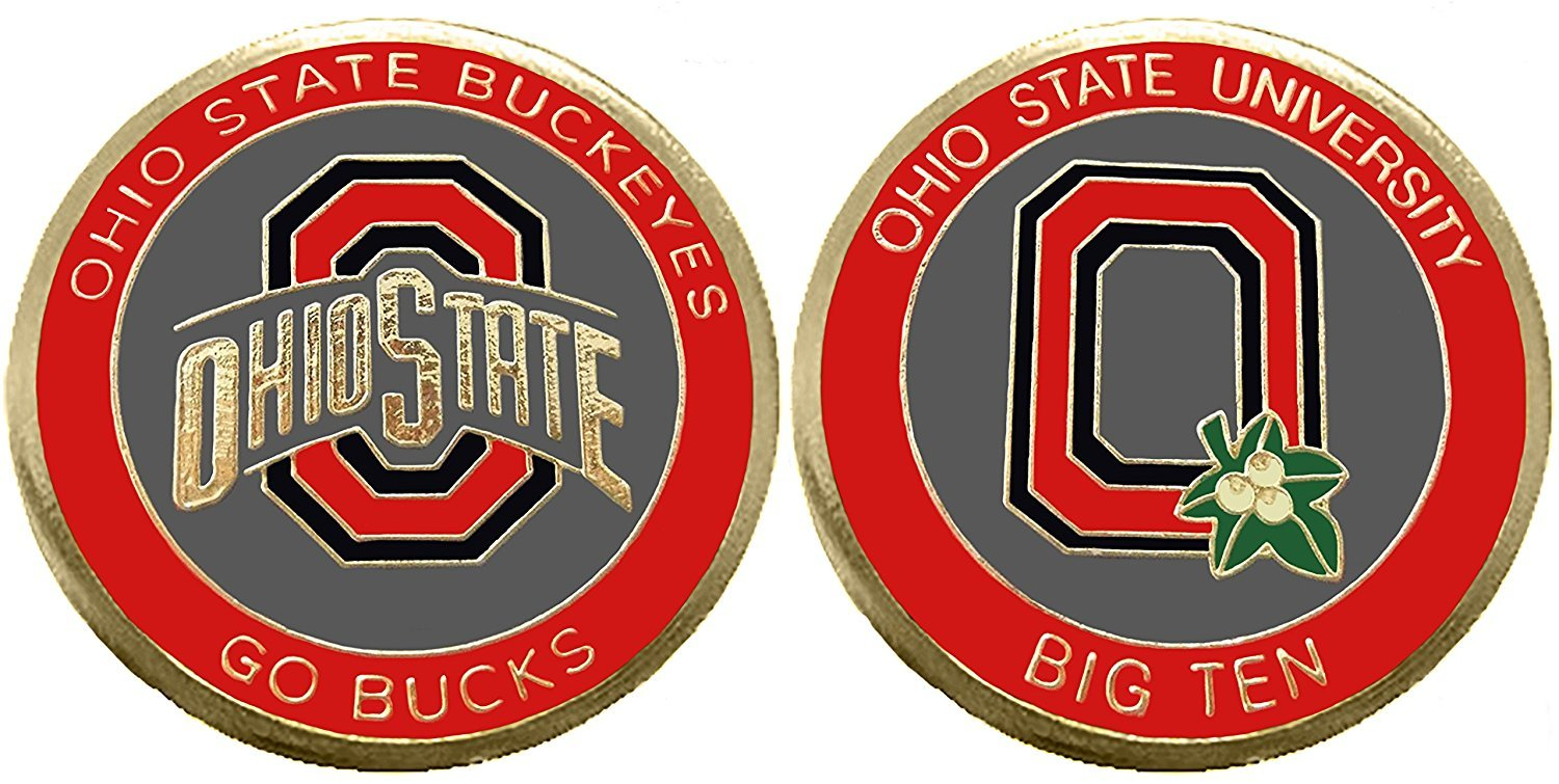 Coin and Coins Ohio State University Buckeyes Challenge Coin