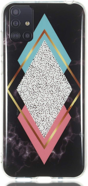 ChoosEU kompatibel mit 3X H/üllen Samsung Galaxy A51 H/ülle Silikon Muster Marmor Transparent Handyh/ülle f/ür M/ädchen Frau Mann D/ünn Silikonh/ülle Durchsichtig Sto/ßfest Case Kombination 1