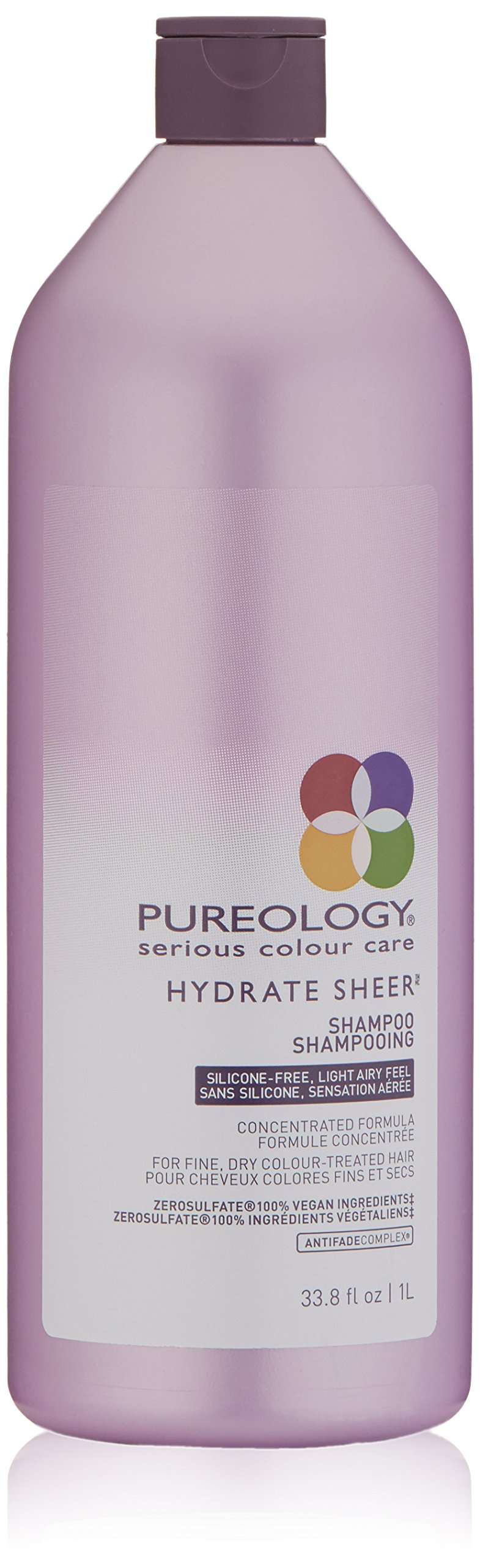 Pureology Hydrate Sheer Moisturizing Shampoo for Color Treated Hair, Sulfate-Free, Silicone-Free, 33.8 fl. oz. by Pureology