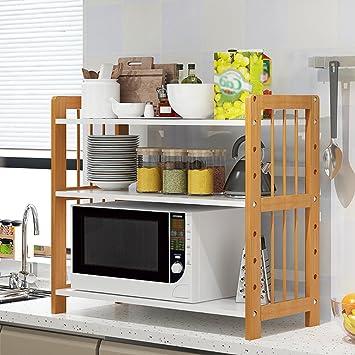 L Küche Racks Boden 3 Schicht Holz Multifunktionale Lagerregal  Haushaltsgegenstände ( Größe : 81cm )