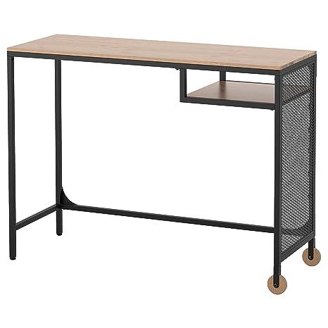 Tavolo Scrivania Ikea.Ikea Fjallbo Tavolo Scrivania Per Pc Portatile Nero 100x36