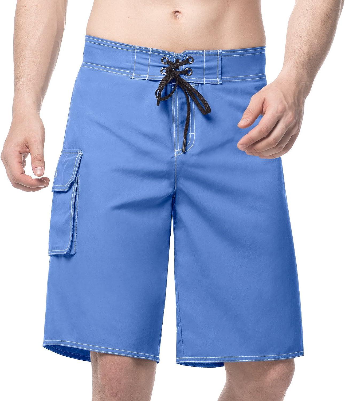 LAPASA Pantalón Corto de Hombre. Bañador Tipo Bermuda, Secado Rápido (Casual o Baño) M42