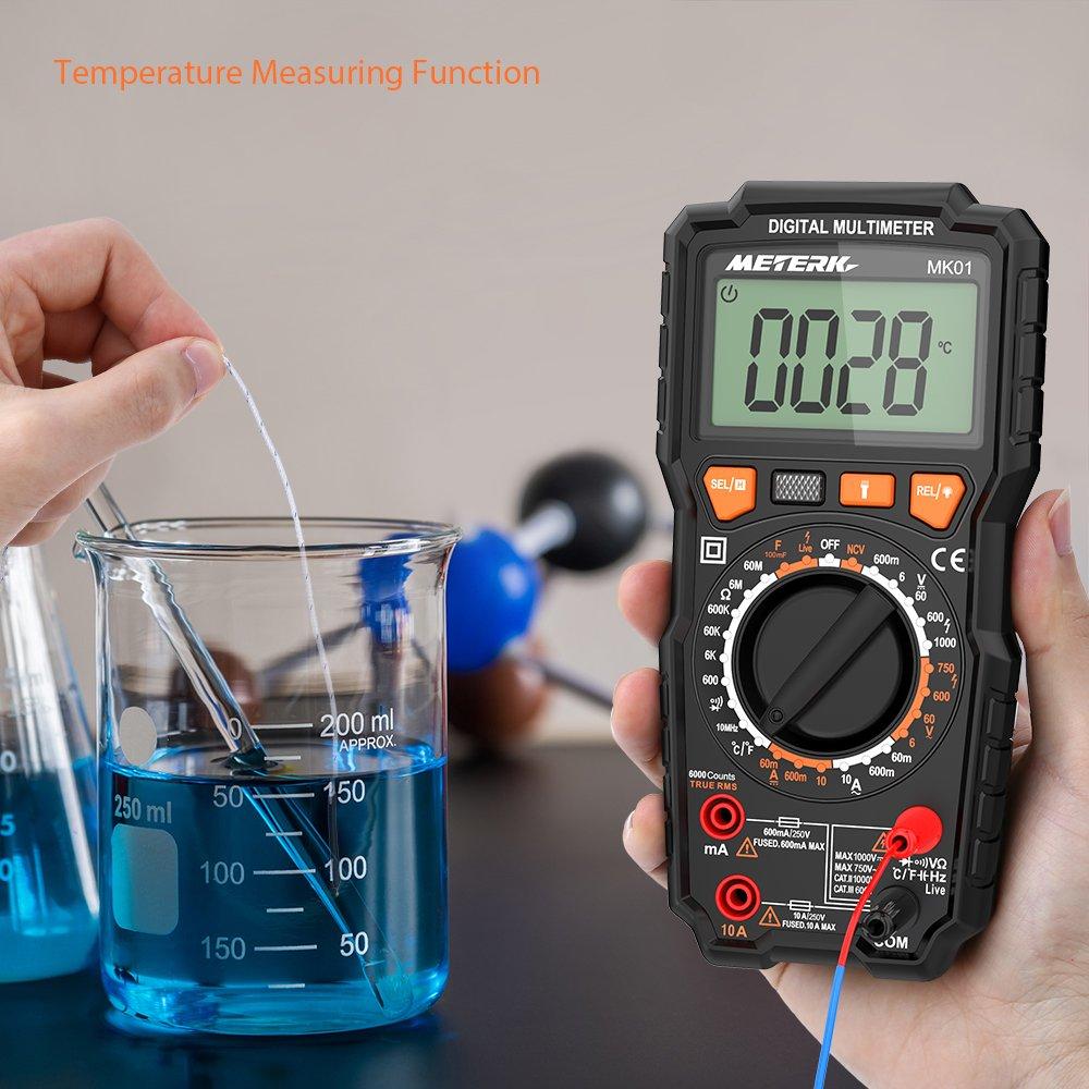 Digital Multimetermeterk True Rms Ncv Multimeters Voltmeter Tester Buy Circuit Testerelectrical Testerac Dc Voltage Measuring Ac Current Resistance Capacitance Mk01 Diy Tools