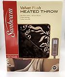 Amazon Price History for:Sunbeam Velvet Plush Heated Throw, Brown with Print