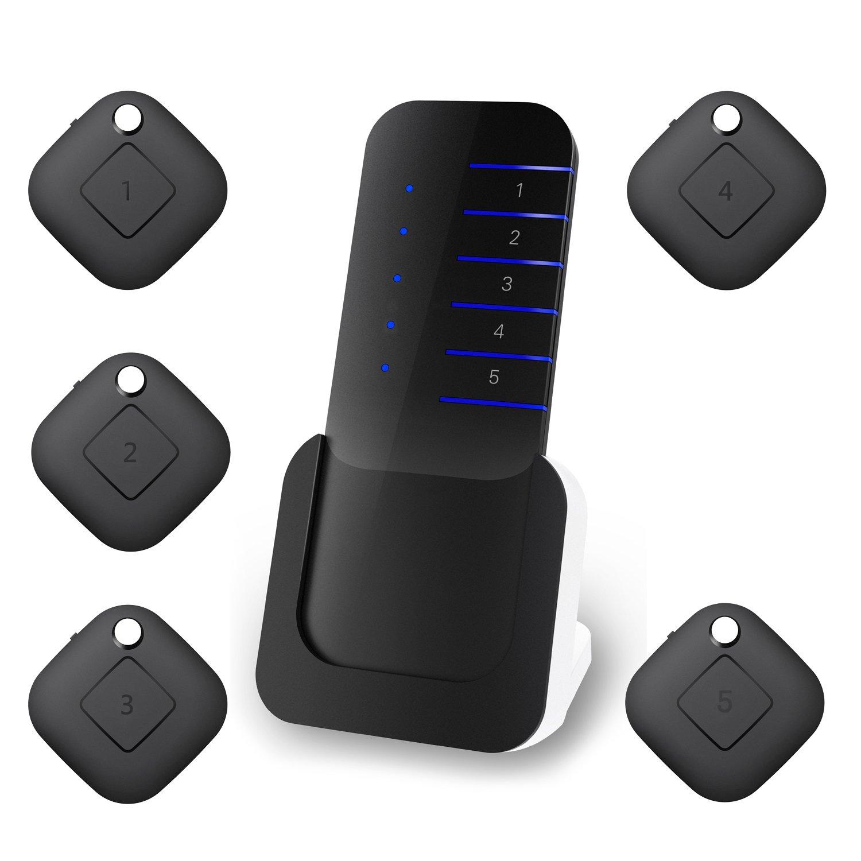 Venoro Wireless RF Item Locator, Key Finder Locator Item Tracker, Key, Phone, Pet, Child, Purse Finder with 1 Portable Transmitter and 5 Receivers (KF5)