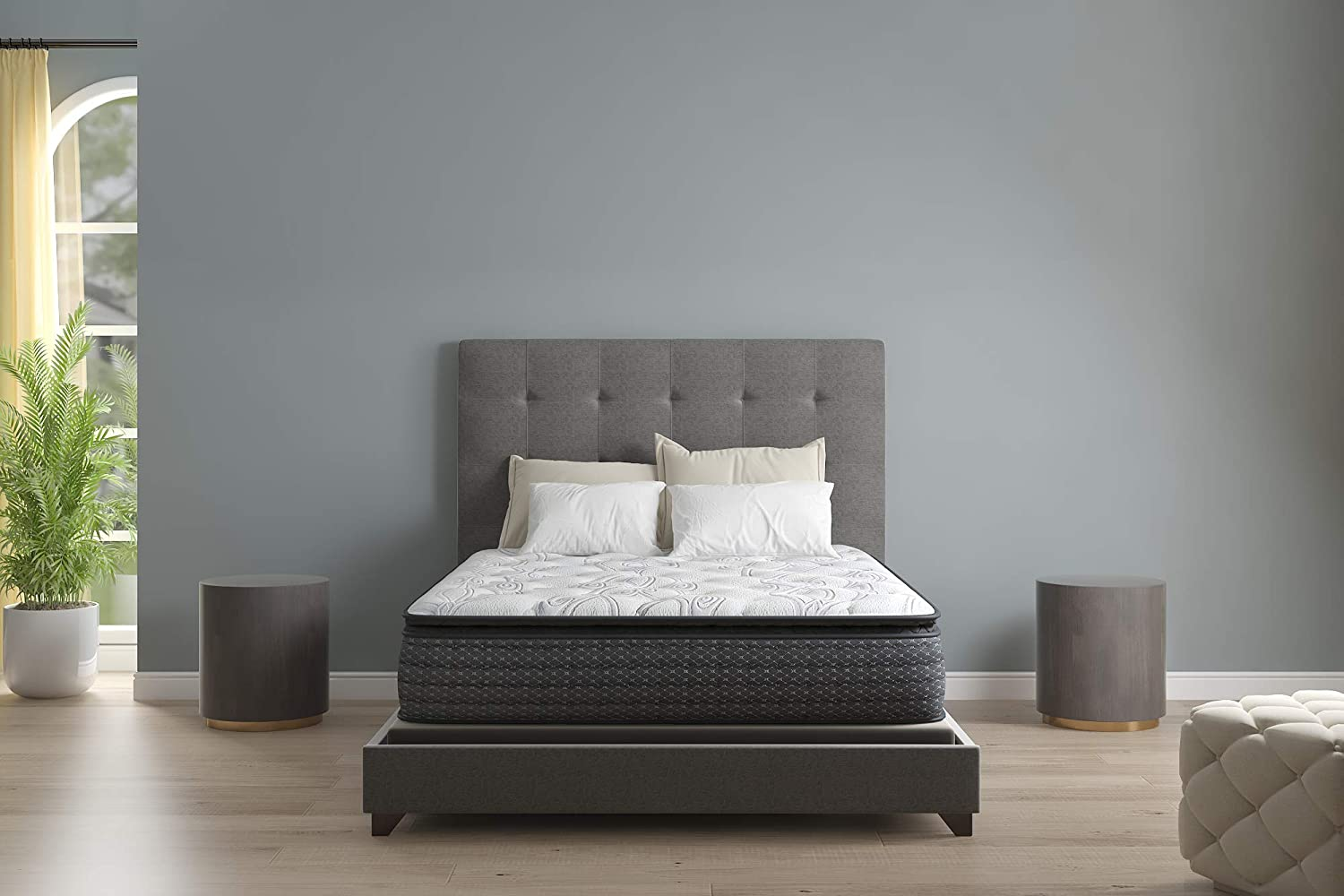 Signature Design by Ashley Limited Edition Pillowtop Queen Mattress, White