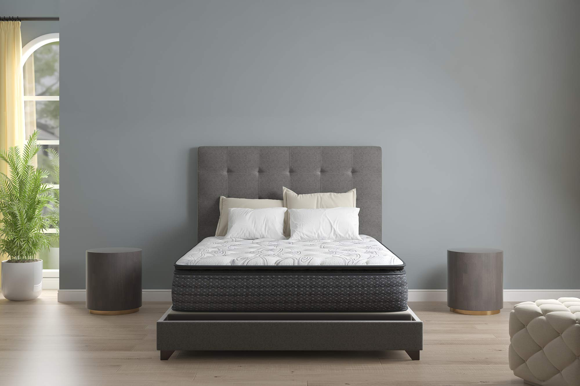 Signature Design by Ashley Limited Edition Pillowtop Queen Mattress, White by Signature Design by Ashley
