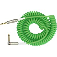"KIRLIN Cable IMK-202PFGL-30/GRF 1/4"" Premium Coil Instrument Cable, 30', Green Translucent"