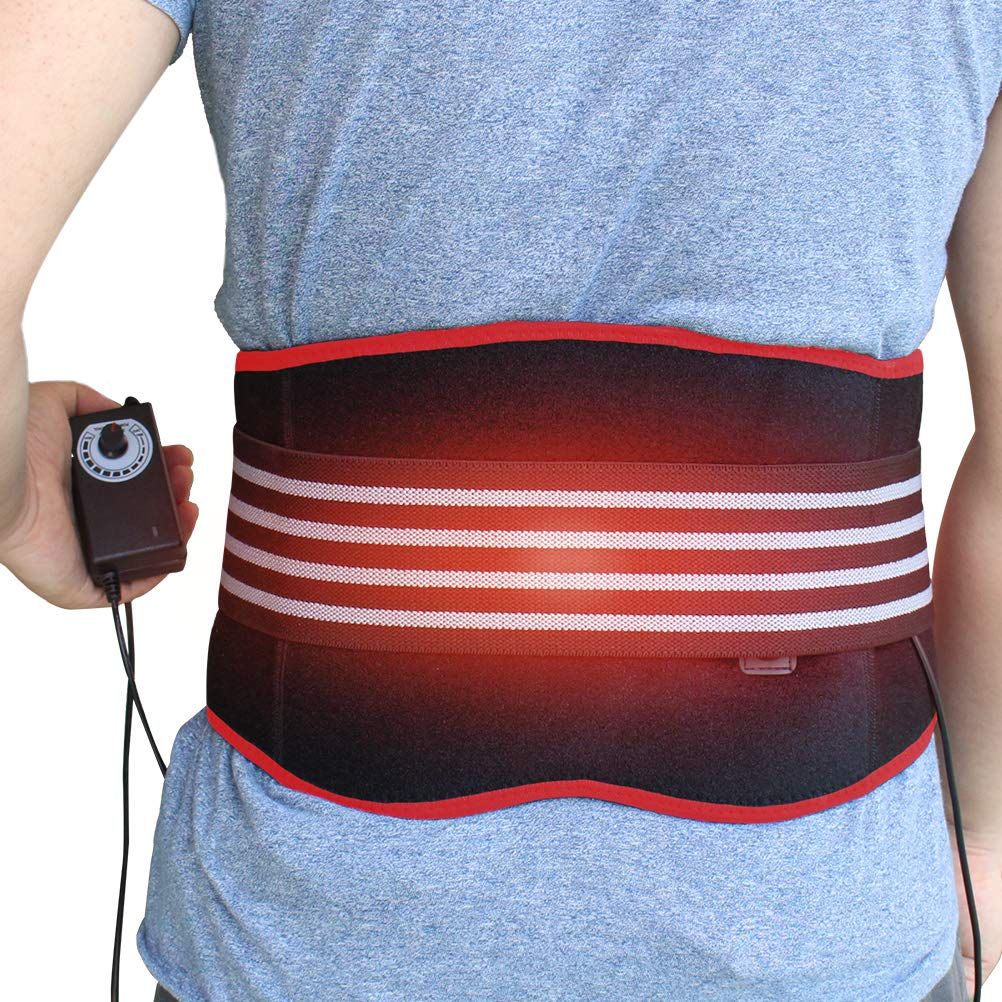 CREATRILL Heating Pad Lumbar Support Back Brace Belt Lower Back Heat Wrap Hot Therapy for Waist Pain Relief Muscle Strain Dysmenorrhea Abdominal Pain Good Back Warmer Lumbar Wrap