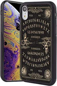 Case for iPhone Xr Case Witchy Ouija Board Rectangle Full Body Shockproof Cellphone Plastic Black Frame Case for iPhone Xr 1 Pack