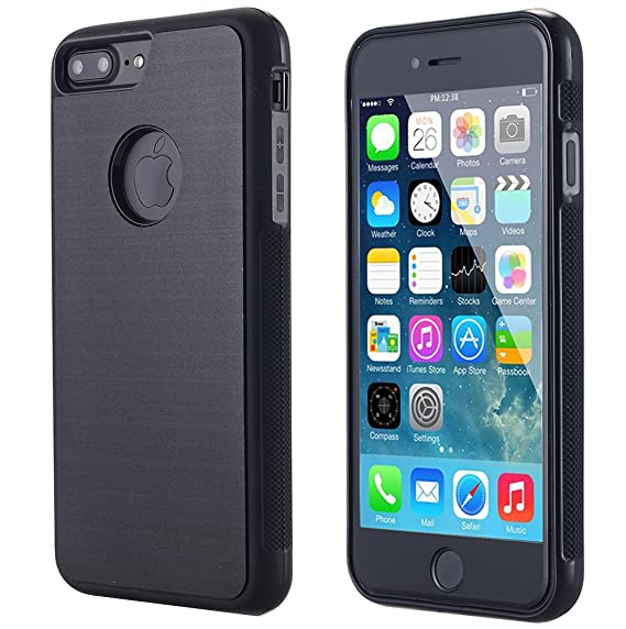 purchase cheap 12ae4 b2c7a iPhone 8 Plus/ 7 Plus Case, Nano Suction Hands Free Self Sticky to Glass,  Tile, Car GPS, Most Smooth Surface Case for Apple 5.5'' iPhone 8  Plus/iPhone ...