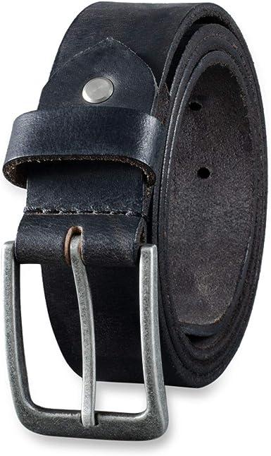 STILORD Ceinture en Cuir Hommes Vintage pour Business et Jeans Boucle d/épine Cuir V/éritable