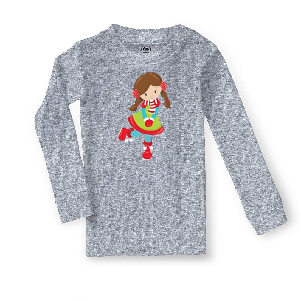 Christmas Girl Brown Stands Cotton Boys-Girls Sleepwear Pajama 2 Pcs Set