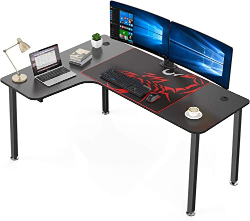 Eureka Ergonomic 60″ L Shaped Gaming Desk