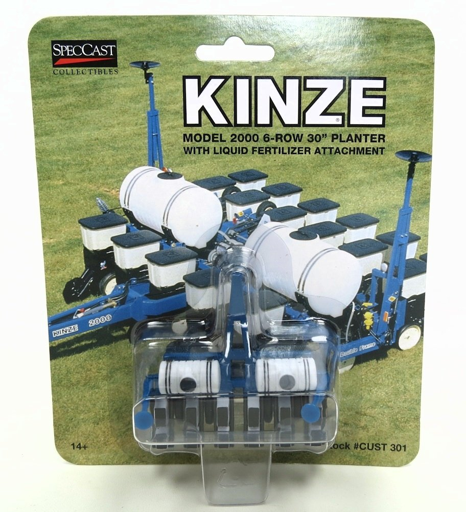 Amazon Com 1 64 Kinze 2000 6 Row Planter W Liquid Fertilizer By