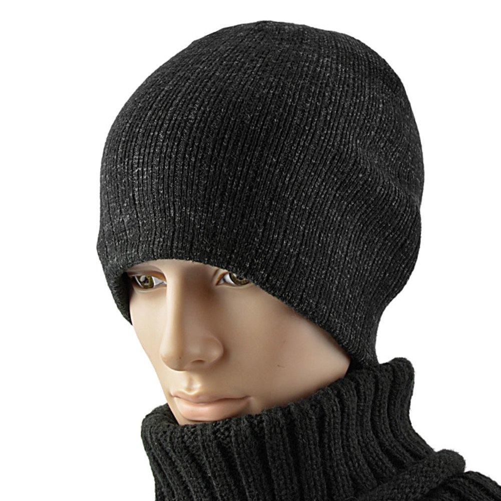 PLMWQAVDFN Mens hat Knitted Hat Wool Hat Warm-Keeping hat Cowl-Neck Pullovers Tab Header caps Ski Hat