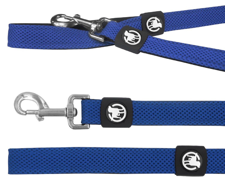2,0 x 120 cm Longitud de 120 cm Azul obtenible en Distintos Colores y tama/ños para Perros Grandes S DDOXX Correa para Perro medianos y peque/ños Textura Air Mesh Correa de Perro