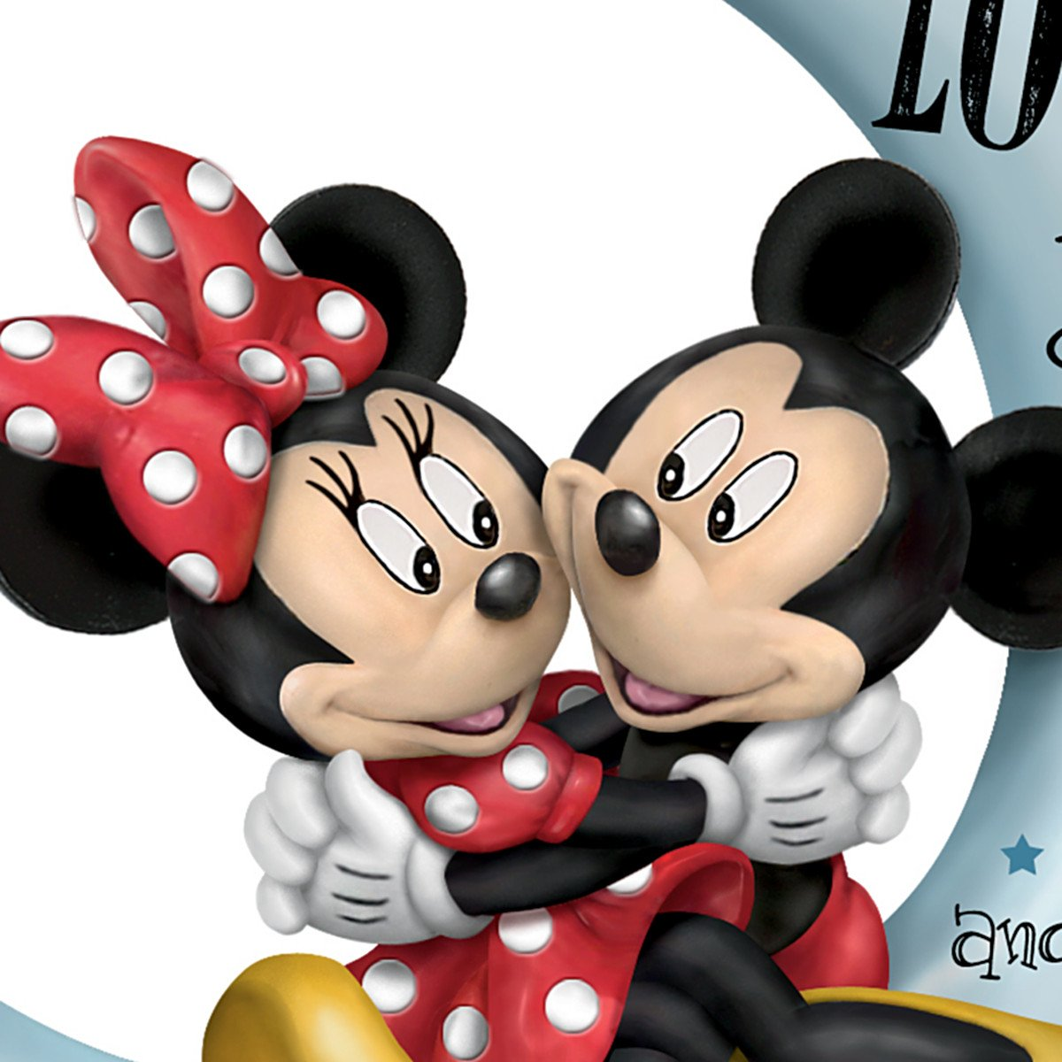 The Hamilton Collection Disney Mickey Mouse and Minnie Mouse I Love You to The Moon and Back Figurine