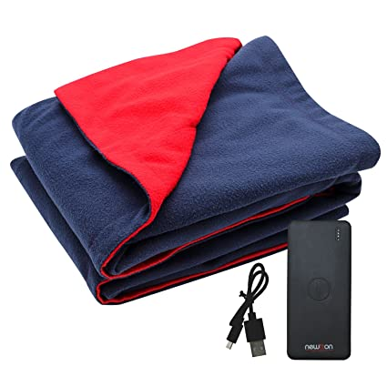 Amazon USB Heated Fleece Blanket With Phone Charger Power Bank Delectable Rechargeable Heated Throw Blanket