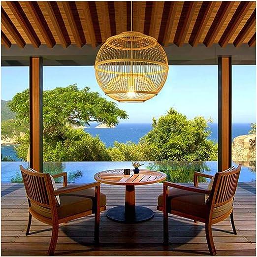 Shirley Home Lámparas de araña Jardín chino iluminación restaurante sala de estar de bambú de la