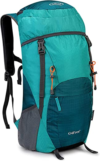 G4Free Lightweight Packable Hiking Backpack 35/40L Travel Camping Daypack Foldable (Light Green-Large, 40L)