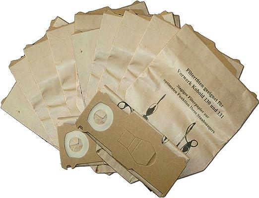 10 bolsas para aspiradora para Vorwerk Kobold 130. 131. 131sc con EB 350 o EB 351: Amazon.es: Hogar