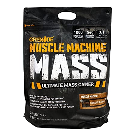 Grenade Muscle Machine Mass - 12.6 lbs (Chocolate Milkshake) Sports Supplements at amazon
