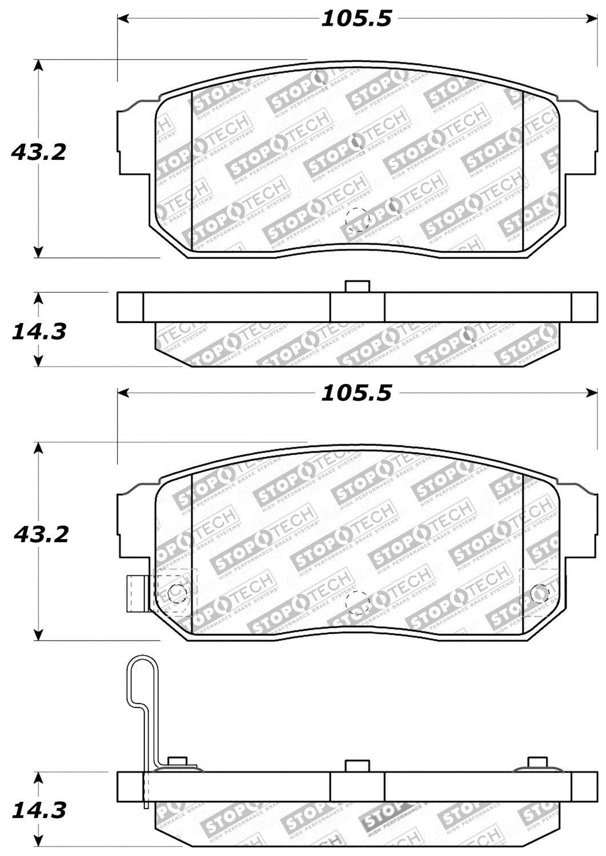 StopTech 309.10080 Street Performance Rear Brake Pad