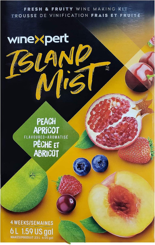Winexpert Island Mist Peach Apricot Chardonnay 7.5 Liter Wine Making Kit