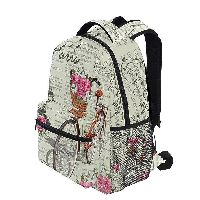 Amazon.com: WXLIFE Eiffel Tower Flower Vintage Backpack Travel School Shoulder Bag For Kids Boys Girls Women Men: Computers & Accessories