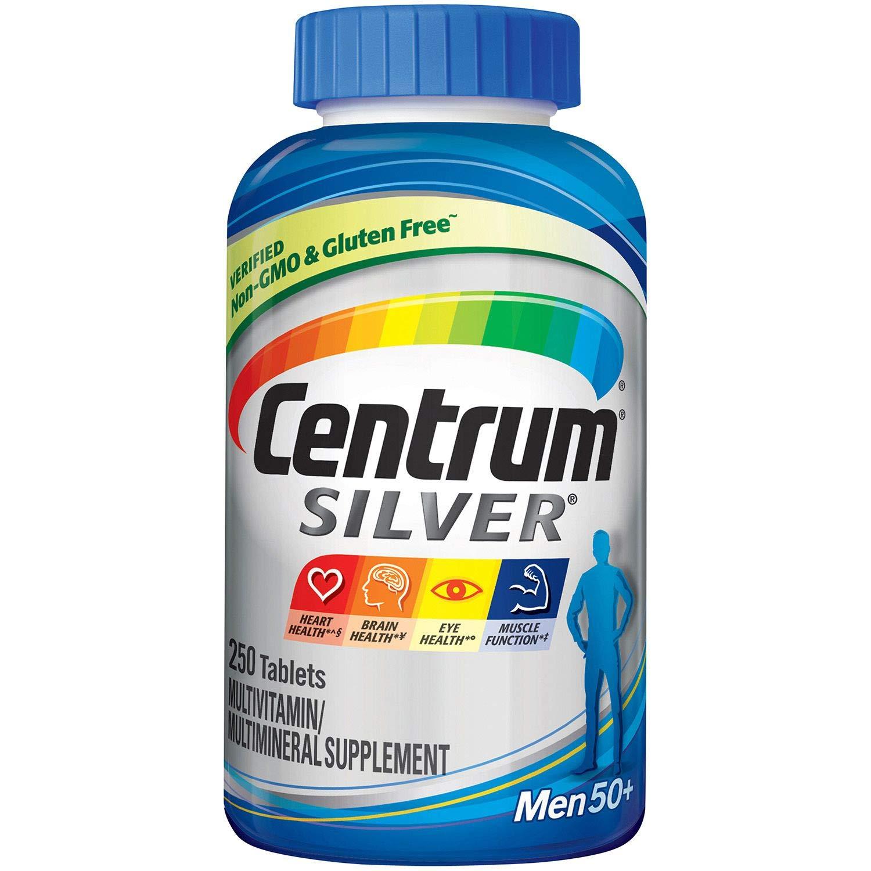 Centrum Silver Men Multivitamin Multimineral Supplement Tablet, Vitamin D3, Age 50 250 Count