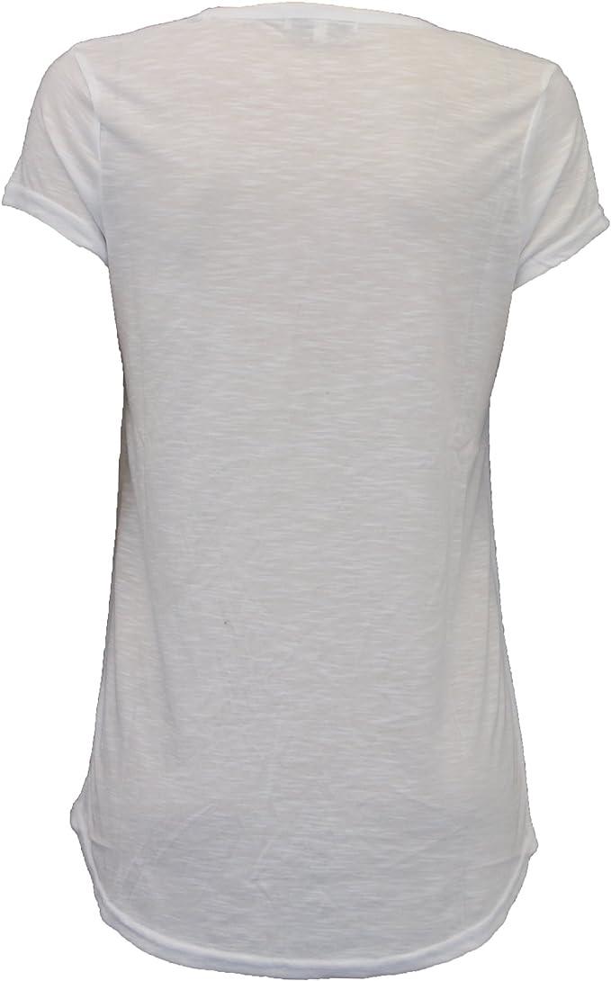 Top señoras Brave Soul Para Mujer camiseta Blusa Alta Baja Dobladillo bordado de mariposa