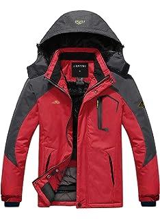 9fa3a928ac29 Amazon.com  Alomoc Men s Winter Hiking Jacket Waterproof Softshell ...