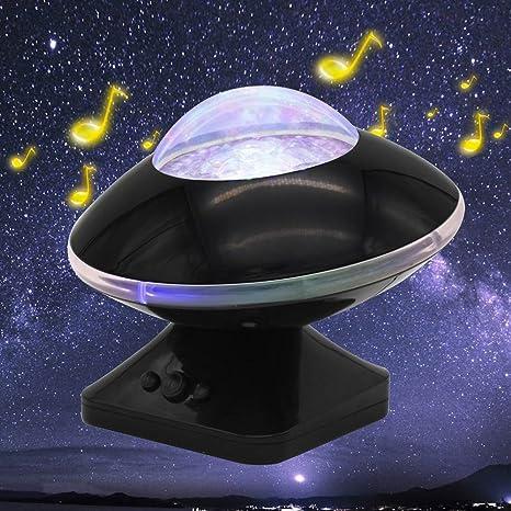 Luckstar Aurora proyector luz nocturna - 45 Degree rotación cambio ...