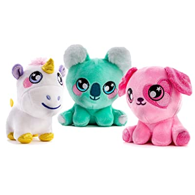 Squeezamals 3Deez, 3 Pack (Pink Dog Candy, Koala Ken, Unicorn Nana) Slow-Rise Foam Stuffed Animals: Toys & Games