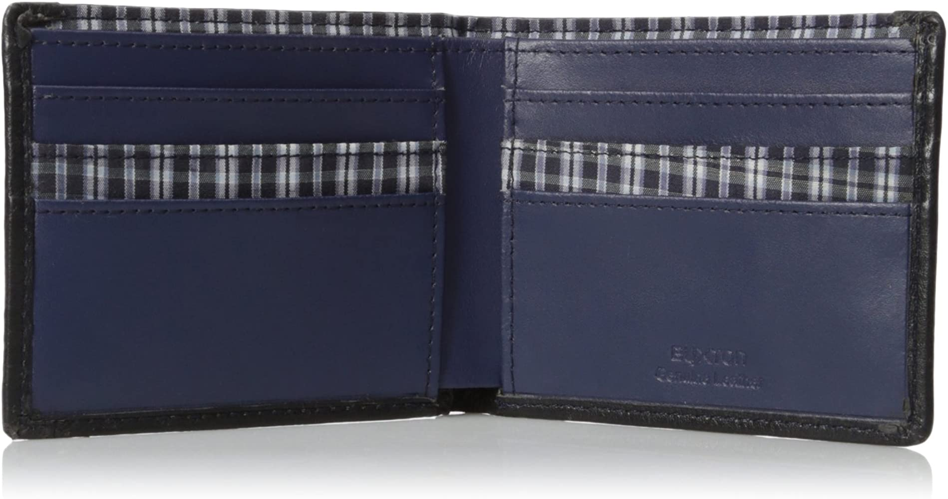 Black One Size Buxton Men/'s Tulsa RFID Blocking Slimfold Slim Wallet