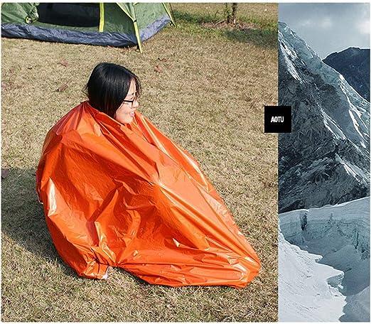 Runningfish Sac de Couchage Thermique ultral/éger de Survie Bivy Sac de Couchage durgence pour Camping en Plein air randonn/ée