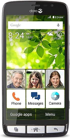 Doro 824 Superior de Usar, fácil de Usar Android Smartphone w / 5 ...