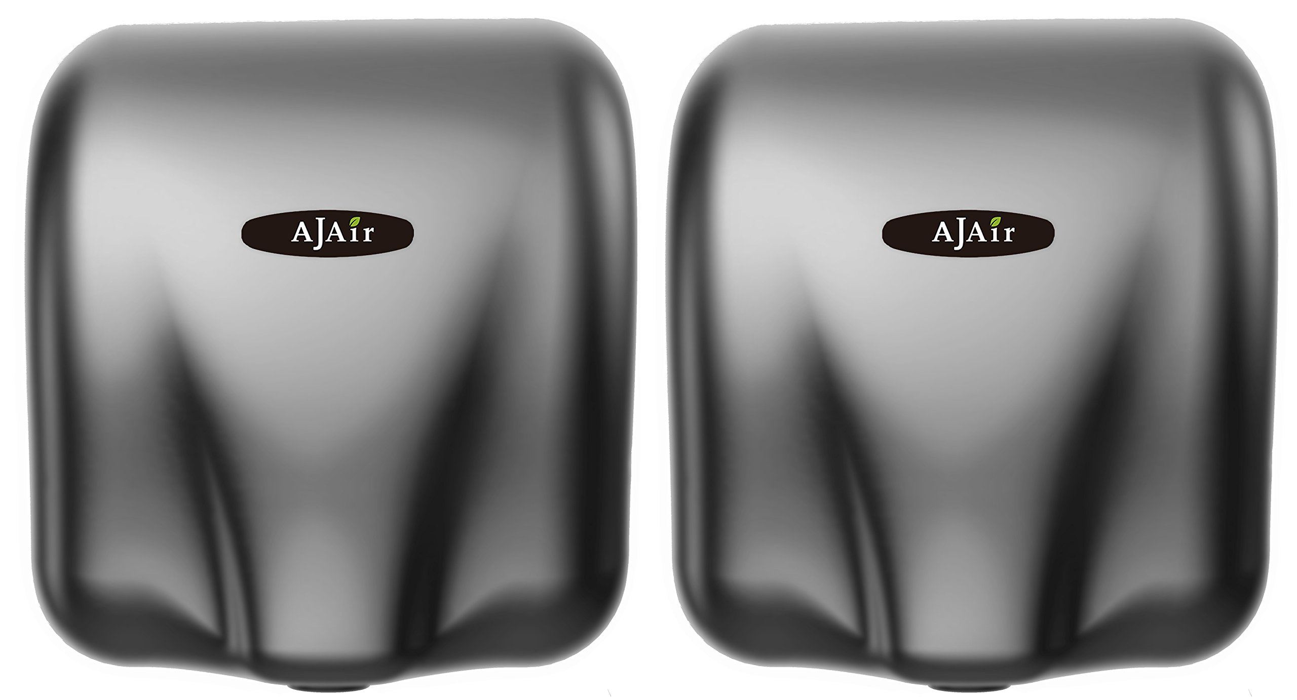 AjAir (2 Pack Heavy Duty Commercial 1800 Watts High Speed Automatic Hot Hand Dryer (Grey)
