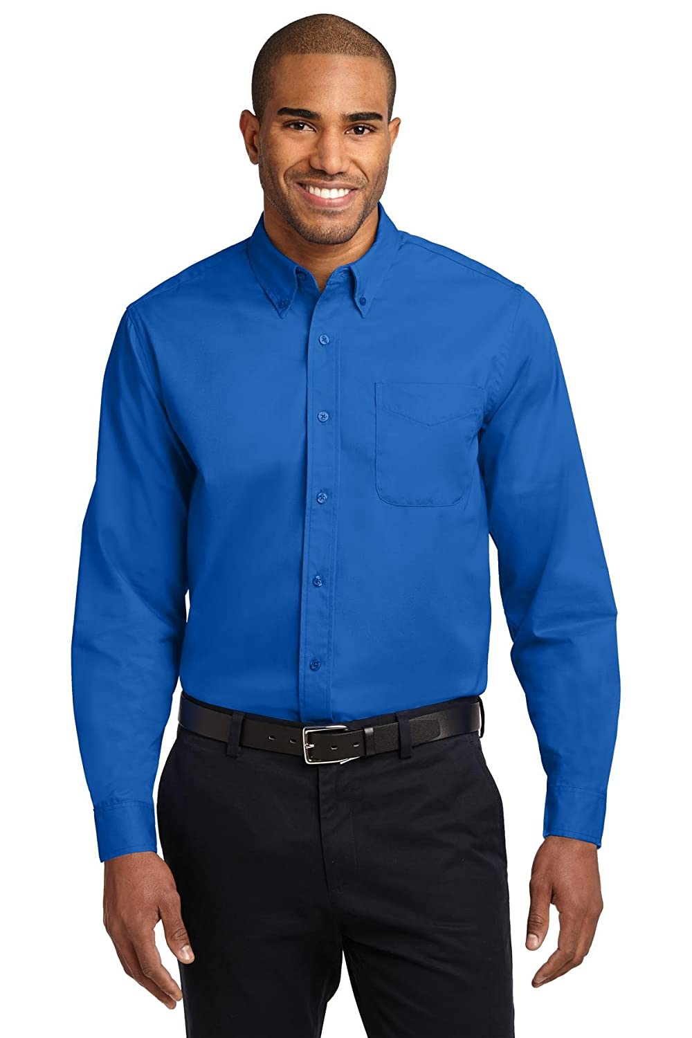 Port Authority Extended Size Long Sleeve Easy Care Shirt S608ES Strong Blue 7XL