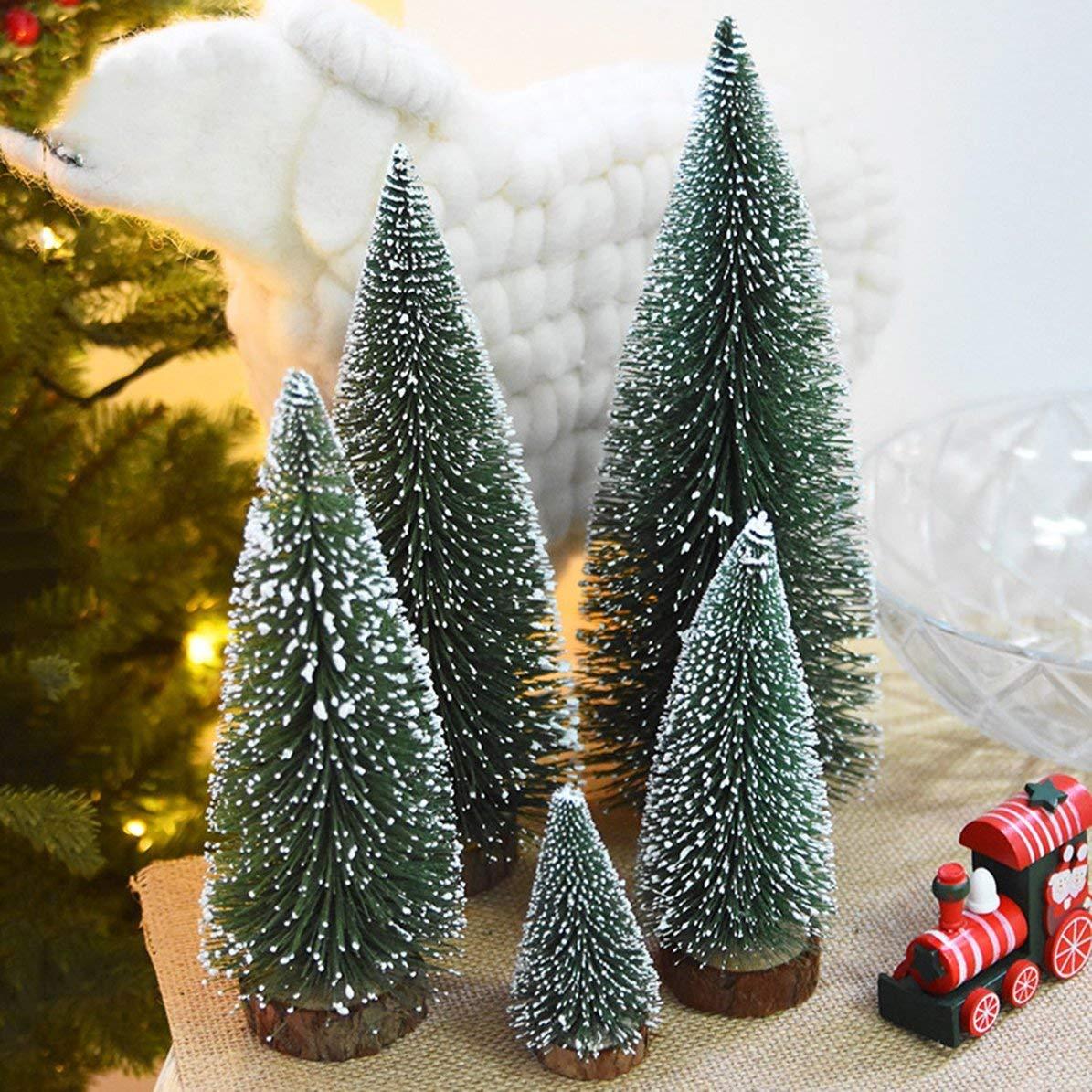 DoMoment Alberi di Natale Artificiali Mini Christmas Decoration Supplies Small Simulation Plant Snowy Desktop Alberi di Natale