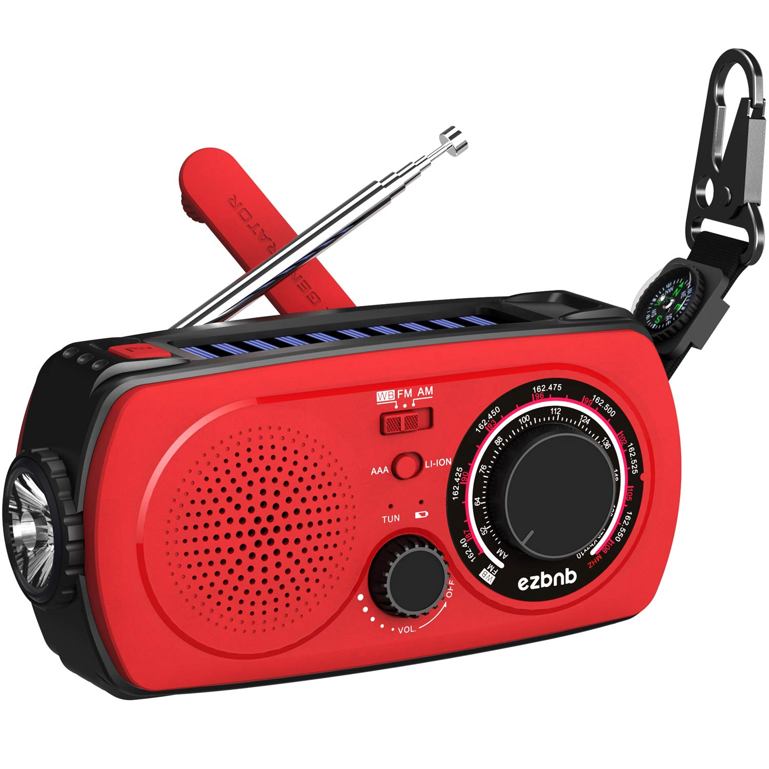 Solar Emergency Hand Crank Radio - All-New Portable NOAA Weather Radio for Outdoor Emergency with AM/FM, 2