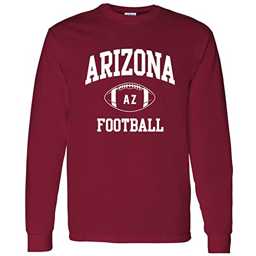 Arizona Classic Football Arch American Football Team Long Sleeve T Shirt -  Small - Cardinal 1a84d6df1