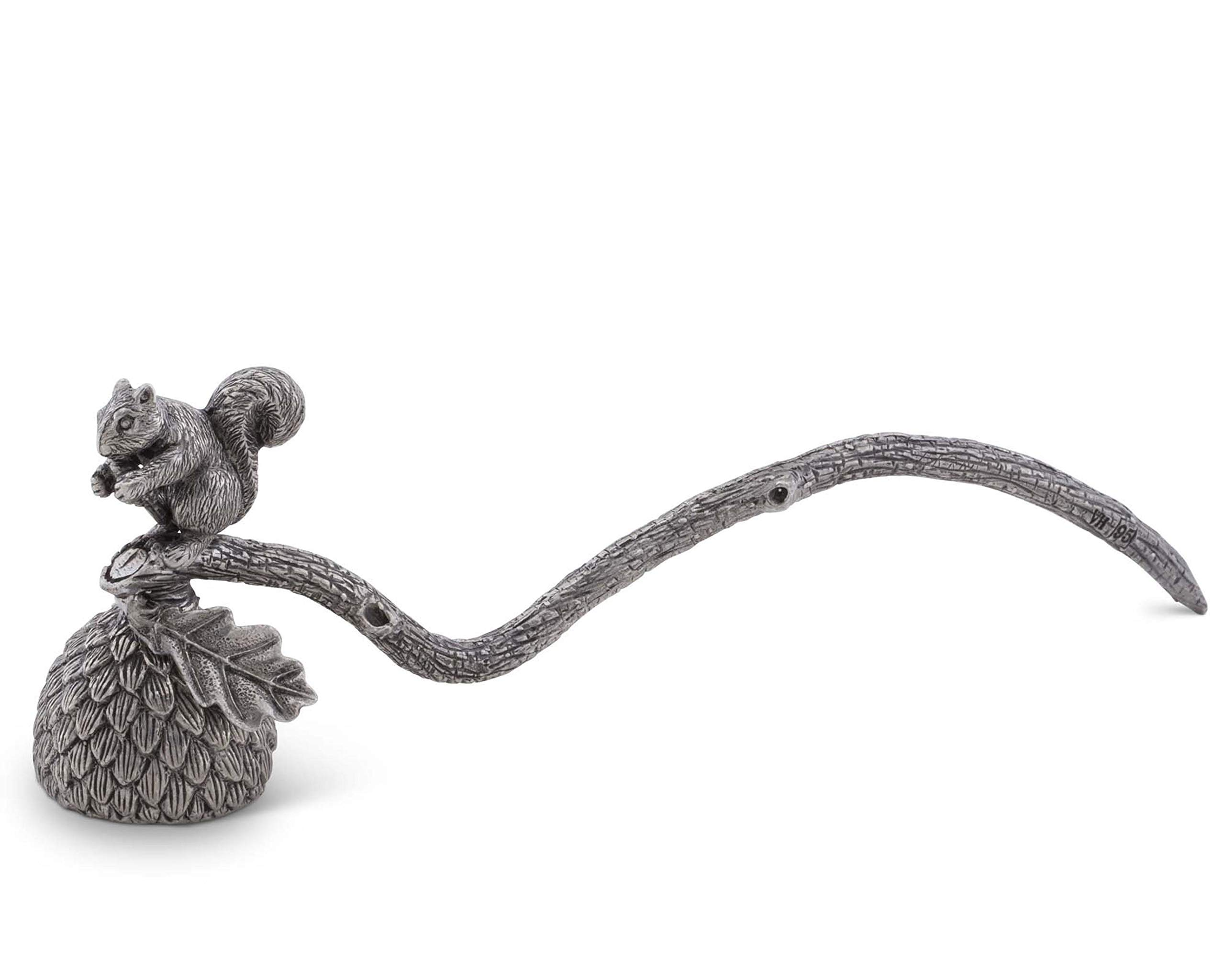 Vagabond House Pewter Squirrel Candle Snuffer 10'' Long