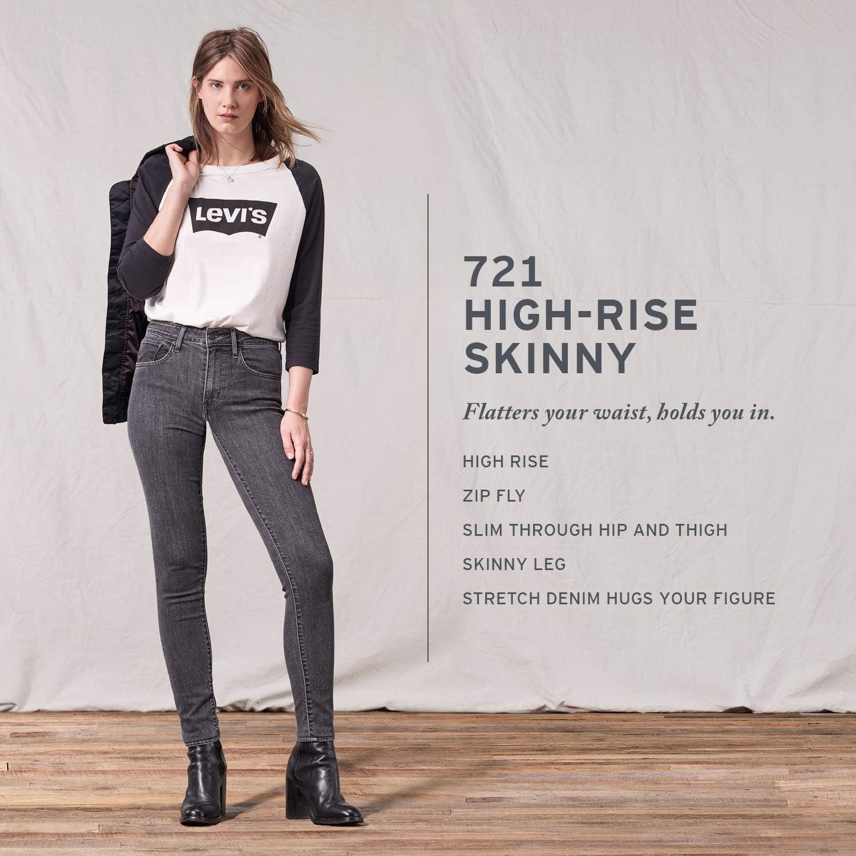 Levi's Women's 721 High Rise Skinny Jeans Femme Canne Culte.