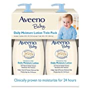 Aveeno Baby Daily Moisture Lotion, Fragrance Free (18 fl. oz, 2 pk.) Non-Greasy Formula Absorbs Quickly
