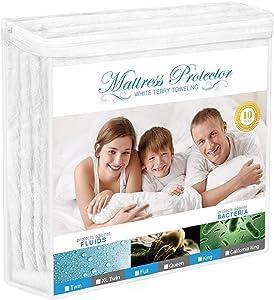 Adoric Mattress Protector, Waterproof Mattress Protector, Premium Hypoallergenic Mattress Cover Cotton Terry Surface-Vinyl Free (Twin XL)