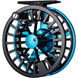 Piscifun Aoka Aluminum Fly Fishing Reel with Cork/Teflon Disc Drag System and Bullet 5/6 Fly Fishing Complete Rod Reel Combos