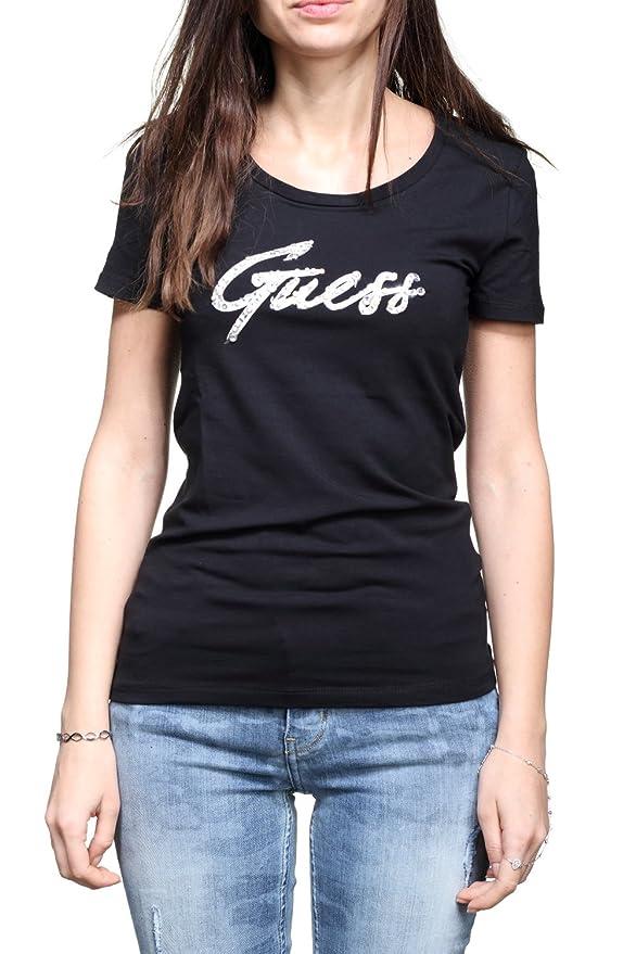 Guess Tee Shirt Femme W82i99 - J1300 A996 Noir - Couleur Noir - Taille L   Amazon.fr  Vêtements et accessoires 6a71e07063a